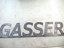 "Metal Sign For The Inside Or Outside Decor. ""Gasser"""