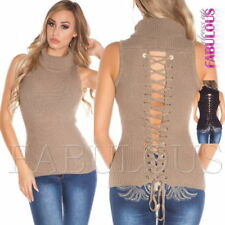 Unbranded Lace Up Sleeveless Tops & Blouses for Women