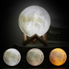 "3D Printing Moon Led Night Light 5.9"" Moon Lamp Decorative Table Ball Baby Nurse"