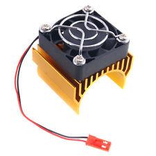 RC HSP 7020 Gold Alum Heat Sink 5V Fan 40*40*10mm Cooling For 540 550 Motor