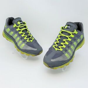 Nike Air Max 95 BB GS Green Gray Athletic Shoes Youth US Size 6Y 512169 003