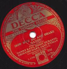 Danny Kaye + Jimmy Durante : Blackstrap Molasses + How Dye do and shake hands