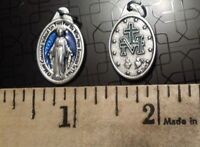 BLUE 10 BULK Virgin Mary Our Lady of the Miraculous Medal Religious Catholic
