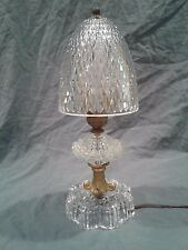 Small Antique Vintage Glass Table Lamp