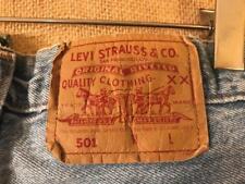 """Levi's 501 men's light blue jeans size 34 x 31.5"""" button fly high rise cotton"""