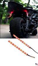 TWO Slimline Red Stop Turn Tail Brake Light LED Camper Trailer USA Motorcycle