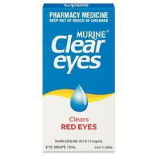 MURINE CLEAR EYES 15ML EYE DROPS - CLEARS RED EYES REDNESS IRRITATION