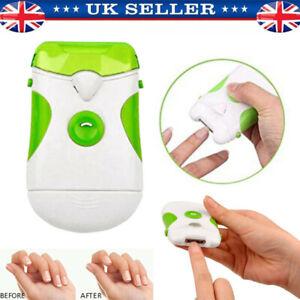 Electric Nail Trimmer Clipper Cutter File Toenail Fingernail Manicure w/Light UK