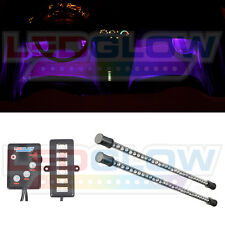 LEDGlow 2pc 9 Inch Purple LED Interior Lighting Kit for Car & Truck Underdash