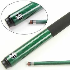 JONNY 8 BALL 2 PIECE GENUINE GRAPHITE SNOOKER POOL CUE - GREEN