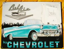 57 Chevrolet Bel Air TIN SIGN antique vintage auto art metal wall poster ad 1760