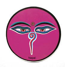 """10 x Augen Buddhas Aufkleber rund selbstklebend """"Eyes of Buddha""""  Sticker INDIEN"""