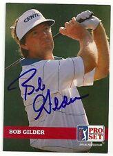 PGA Bob Gilder Signed Auto 1992 Pro Set Card #29  Arizona State  TOUGH  C