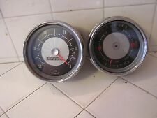Vintage Tachometer with Rev-o-meter & Instrument Pod Fuel Temperature Gauge