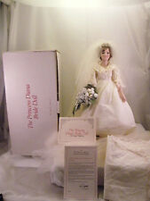 DANBURY MINT PRINCESS DIANA BRIDE DOLL PORCELAIN SCALE TRAIN ORIGINAL BOX