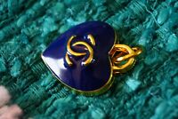 One  Stamped  Chanel Button  1 pieces gold 💋💋💋💋zipper pull 0,9  inch  blue
