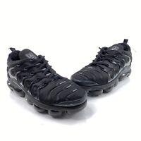 Nike Air Vapormax Plus Mens Sz 9.5 Triple Black Athletic Running Shoes 924453004
