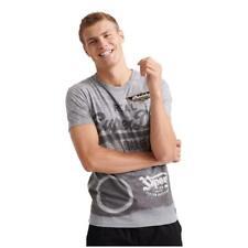 Superdry NEW Men's Vintage Logo Motor Photo T-Shirt - Grey Marl BNWT