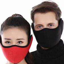 Cycling Face Mask Fleece Breathable Winter Ear Protective Half Face Mouth Mask