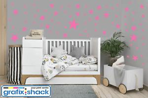 Star Wall Stickers Bedroom Vinyl Decoration Mixed Size Kids Decal Art Nursery