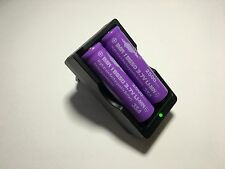 2 Accus 18650 IMR 3.7V Rechargeable 2500Mah Li-Mn + CHARGEUR - HOT