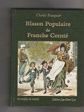 BLASON POPULAIRE DE FRANCHE-COMTE CHARLES BEAUQUIER SOBRIQUETS DICTONS CONTES