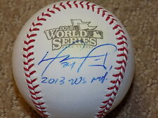 David Ortiz Signed 2013 World Series Baseball Boston Red Sox MLB Big Papi