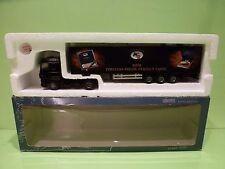 LION CAR DAF 95 XF TRUCK + TRAILER - RITMEESTER MINI - BLACK 1:50 - GOOD IN BOX