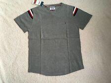 Tommy Hilfiger Mens Crew Neck T-shirt Slim Fit Grey Size L