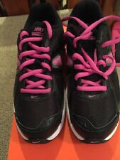 Nike Dart 9 (GS/PS) 443393 010 Pink Black Athletic Shoes Sz 3y 3 New