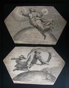 NICOLAS CHAPERON , 1612 - 1655 . GOTT ERSCHAFFT ERDE + SONNE und MOND . 1649 .