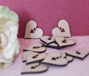 Rustic Wood MDF  Hearts -   choice 40mm to 100mm, Nordic, Christmas,  Laser cut