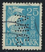 Denmark Perfin A42 - ANCo: UNKNOWN (1923-1928) 2001 Catalog is RF:200