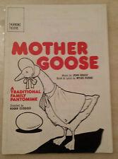 Thorndike Theatre: John Gower Joyce Rae Emlyn Harris in MOTHER GOOSE