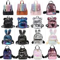 Small Sequins Backpack Girls Women School Mini Bag Travel Rucksack Shoulder Bags