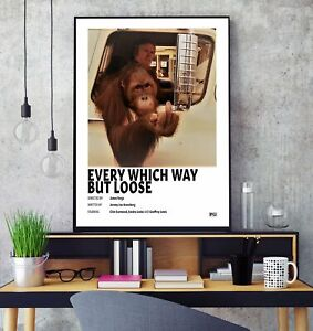 Every Which Way But Loose (1978) Premium Minimalist Movie Poster Print