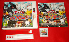 SUPER POKEMON RUMBLE Nintendo 3Ds Versione Italiana 1ª Ed PIN New - COMPLETO EY