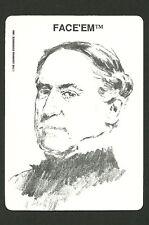 David Farragust Admiral United States Navy Civil War  Face 'Em Collector Card