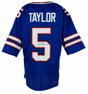 Tyrod Taylor Signed Custom Blue Pro Style Football Jersey JSA ITP