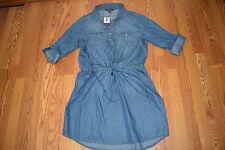 NWT Womens Gloria Vanderbilt Rimini Wash Ashleigh Dress Shirt Blouse Sz L Large