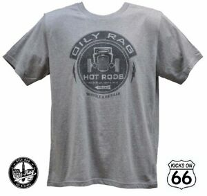 Oily Rag Co. 'Hot Rods' T-Shirt - Route 66, Gas Monkey