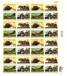 Scott 1387-90 – 1970 6c Natural History Full Sheet of 32 M OG NH