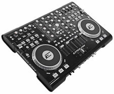 EPSILON QUAD-MIX 4Deck MIDI USB DJ Controller+Mixer+Soundcard+Software Black NEW