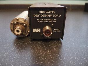 MFJ-260C - 1-650MHz 50R 300W Dry Dummy Load and 50R 10W 'Home-Brew' Dummy Load