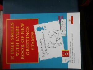 ROYAL MAIL A4 POST OFFICE POSTER 1996 CARTOON GREETING STAMP BOOKLET CARTOONS