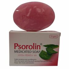Psorolin Medicated Bathing Soap Bars Psoriasis Dry Skin Dandruff (PACK of 2)