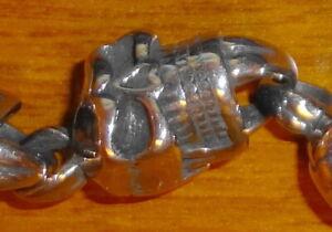 Skull Bracelet, Stainless Steel, Closure Toggle, Seven Skulls, Statement