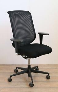 "Stuhl, Drehstuhl  Bürostuhl Vitra ""AM Chair""   schwarz Stoff 150621-03"