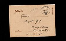 WWII Germany Hitler Head Feldpost 1943 Letter Sheet #17509 Cover 8q