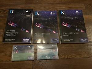 CIMA Kaplan Study Textbooks P2 + F2 Plus Revison Cards And F2 Exam Practice Kit